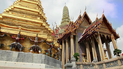 1of 9 Thailand , Southeast Asia , Grand Palace , building in Bangkok Footage