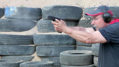 pistol shooting Stock Video Footage