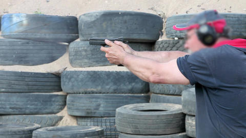 pistol shooting Stock Video Footage
