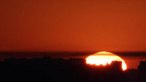 sunset background time lapse Stock Video Footage