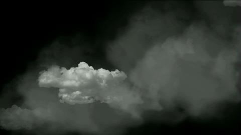 rolling clouds & flying smoke Animation