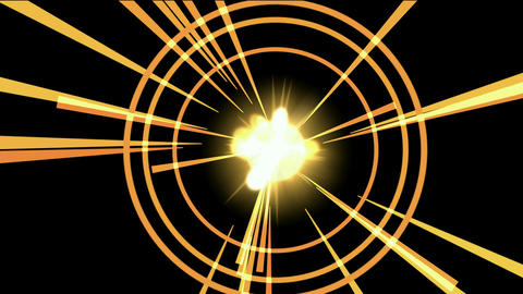 explosion & rays light in space Animation