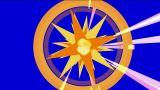 dazzling explosion rays light & rotation disco mirror ball Animation