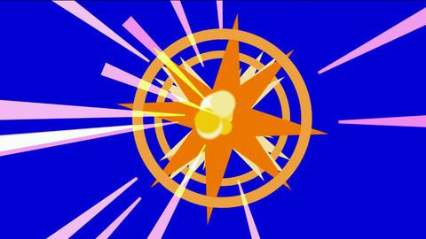 dazzling explosion rays light & rotation disco mirror ball Stock Video Footage