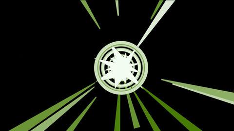 rotation circle & rays light Stock Video Footage