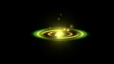 rotation circle energy field launch rays laser light & particles,nimbus in s Animation