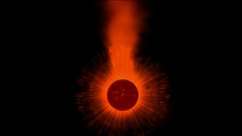 rotation stellar & power explosion rays laser energy... Stock Video Footage