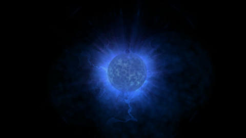 blue planet & power explosion rays laser energy in... Stock Video Footage