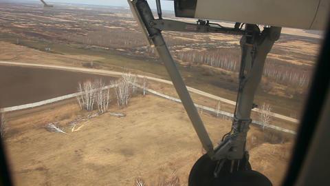 Landing. Plane gear Stock Video Footage