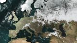 3D Map Rotate Europe with NO Sun or Clouds Animation