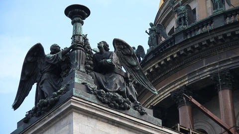 Saint Isaac Cathedral Stock Video Footage