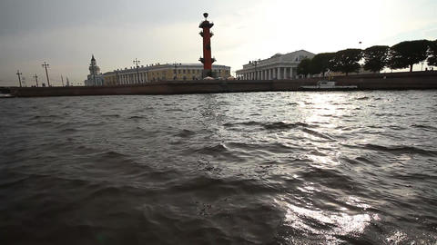 walking on a boat in St. Petersburg Stock Video Footage
