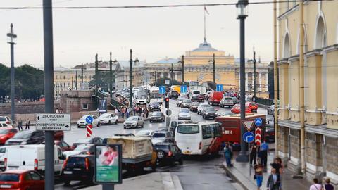 streets of St. Petersburg Stock Video Footage