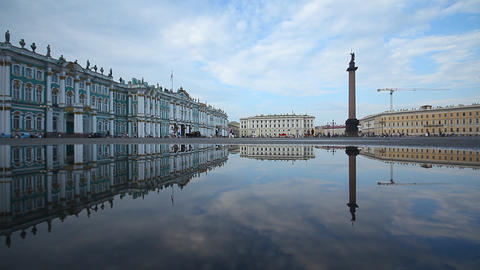 The Palace Square Stock Video Footage