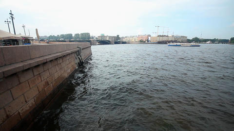 Neva River Stock Video Footage