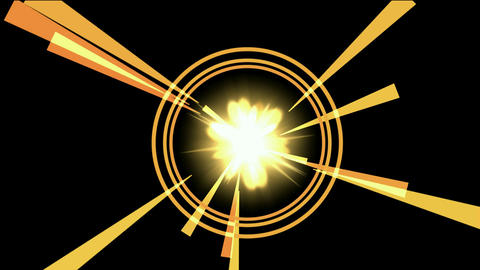violent explosion & rays light in galaxy space Stock Video Footage