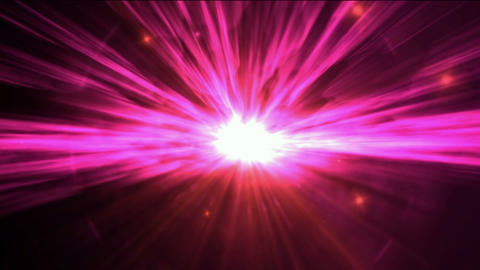 big bang in cosmos,explosion & lightspeed tunnel in... Stock Video Footage
