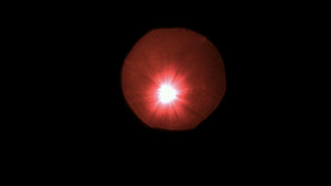 red light circle dots & particles,shine rays light as... Stock Video Footage