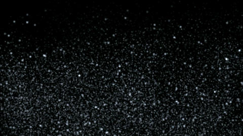 falling dust & snowflake at night,intensive stars in sky Animation
