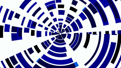 Dark blue circles from fragments. Wheel CG動画素材