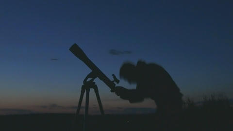 astronomer Stock Video Footage