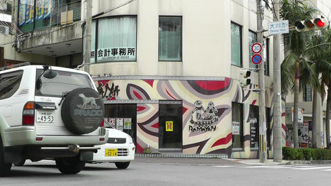 Ishigaki Okinawa Islands 17 traffic Stock Video Footage
