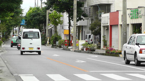 Ishigaki Okinawa Islands 19 traffic Stock Video Footage