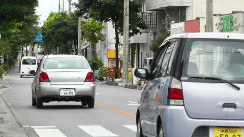 Ishigaki Okinawa Islands 19 traffic Stock Video Footage