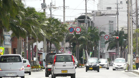 Ishigaki Okinawa Islands 23 traffic Stock Video Footage