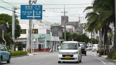 Ishigaki Okinawa Islands 33 traffic Stock Video Footage