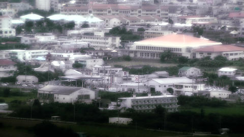 Japanese rural City in Okinawa Islands stylized 02 Stock Video Footage