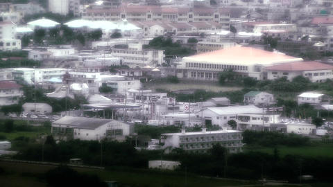 Japanese rural City in Okinawa Islands stylized 02 Footage