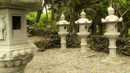 Japanese Shrine in Japanese Garden stylized 04 Stock Video Footage