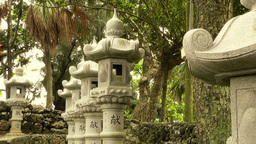 Japanese Shrine in Japanese Garden stylized 06 Stock Video Footage