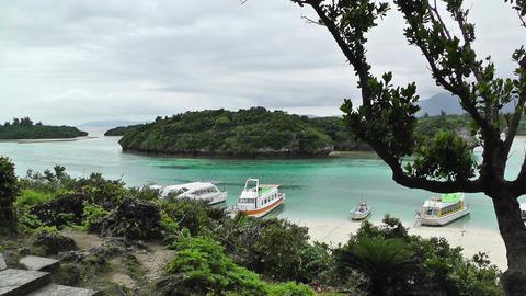 Kabira Beach Bay Ishigaki Okinawa Islands 02 Stock Video Footage
