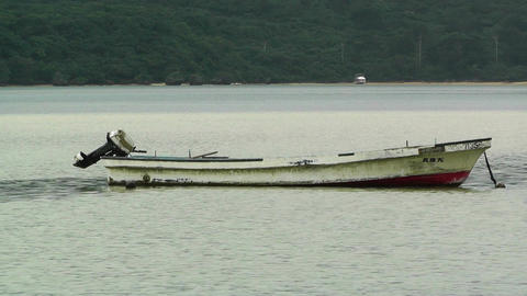 Lonely Boat in Japan Stock Video Footage