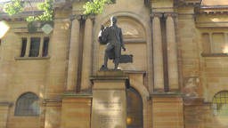 Matthew Flinders Monument and State Library of New South Wales Footage