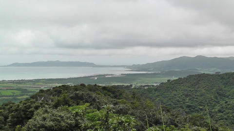 Mount Omoto view to Ishigaki Okinawa Islands 03 Stock Video Footage