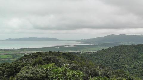 Mount Omoto view to Ishigaki Okinawa Islands 03 Footage