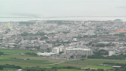 Mount Omoto view to Ishigaki Okinawa Islands 07 Stock Video Footage
