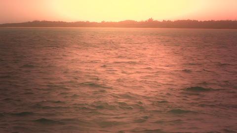 Okinawa Beach stylized 05 tracking shot Stock Video Footage