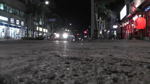 Okinawa Islands Street at Night 01 Stock Video Footage