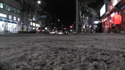Okinawa Islands Street at Night 01 Footage