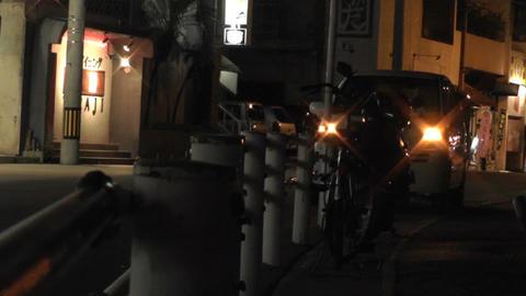 Okinawa Islands Street at Night 07 Stock Video Footage