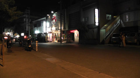 Okinawa Islands Street at Night 11 Stock Video Footage