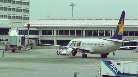Okinawa Naha Airport 17 sky Stock Video Footage