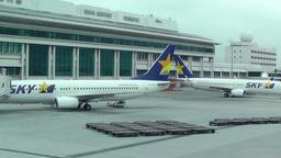 Okinawa Naha Airport 19 sky Stock Video Footage