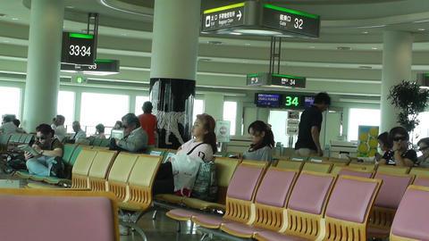 Okinawa Naha Airport Terminal 07 Stock Video Footage