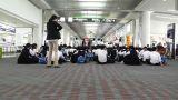 Okinawa Naha Airport Terminal 11 waiting Footage