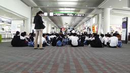 Okinawa Naha Airport Terminal 11 waiting Stock Video Footage